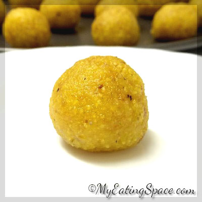 Make a melt-in-mouth, irresistible dessert made with chickpea flour - Motichoor laddu / Chickpea truffles
