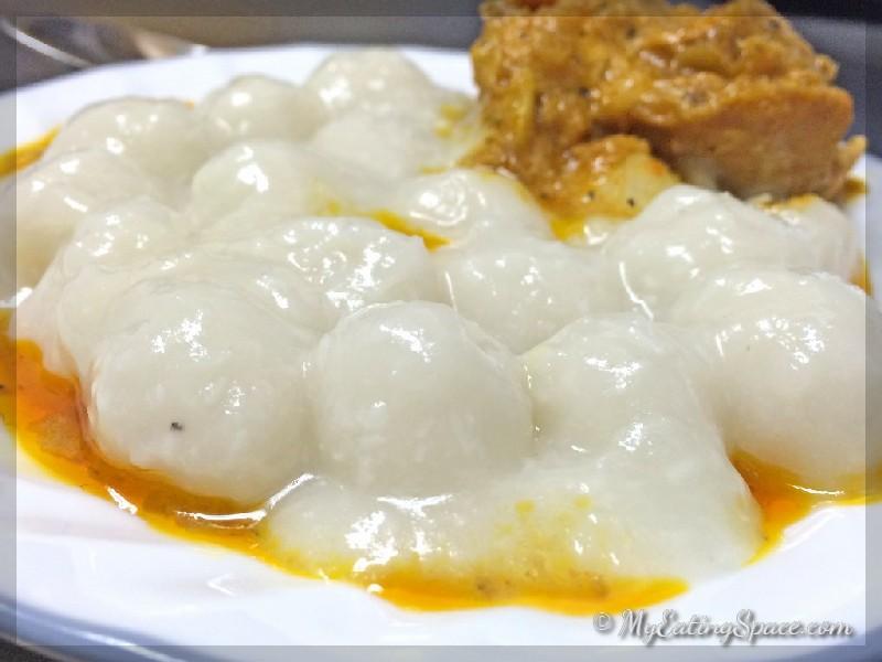 Pidi, Snow balls, Rice Dumplings, Gluten free, spicy, Recipe, traditional Kerala Christian dish.