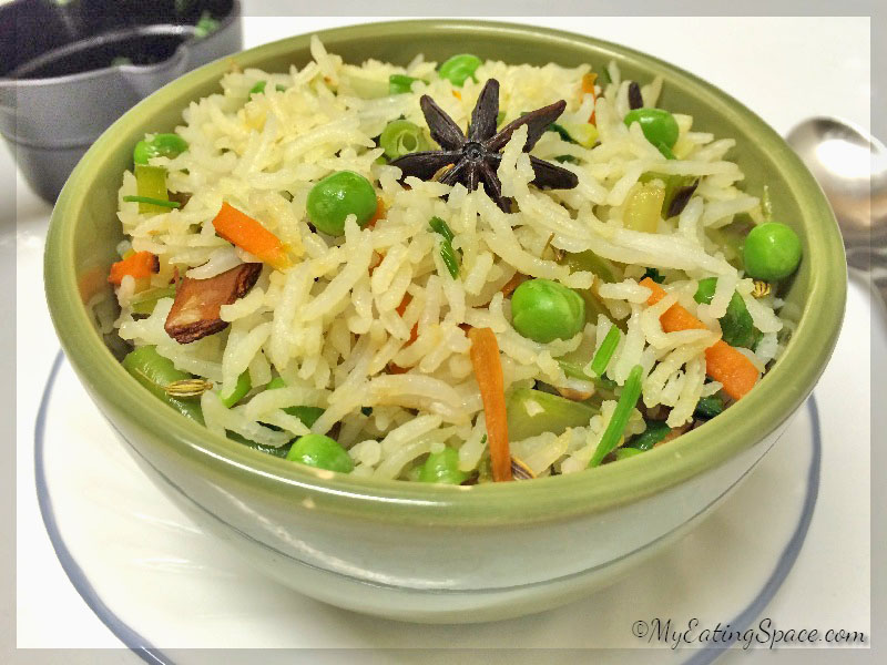 Indian vegetable pilaf has a flavor unique to offer. They are spicy , aromatic and colorful with lots of veggies. The pulao makes a nutrient packed healthy meal.