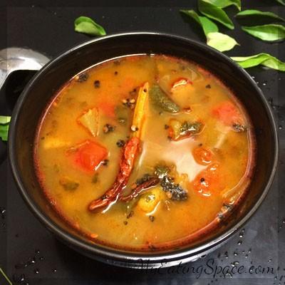 Sambar Without Sambar Powder/ Lentil Vegetable StewMy Eating Space