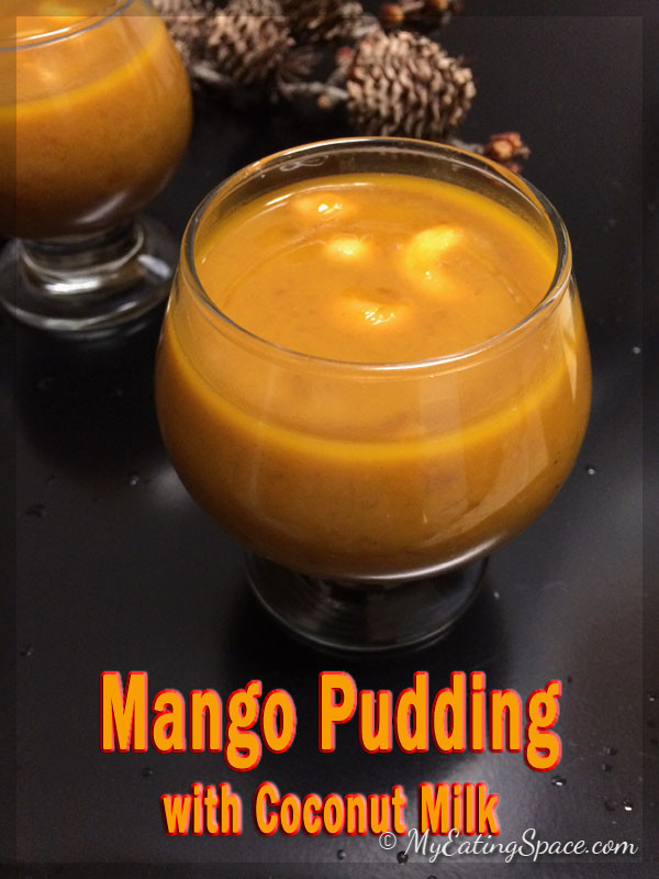 Mango pudding is a yummy delicious dessert made in Kerala style. They are known by the name mambazham (mango) prathaman (pudding made with coconut milk) or payasam or kheer. Watch the video of making this delicious mango pudding at myeatingspace.com