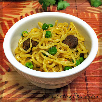 Spicy Beef Noodle Stir-fry is an easy and fast meal made from leftover beef curry and spaghetti noodles. The spices in the beef and green peas make the dish more savory. You can use the recipe to use the thanksgiving leftovers. No additional taste makers are used in the recipe.