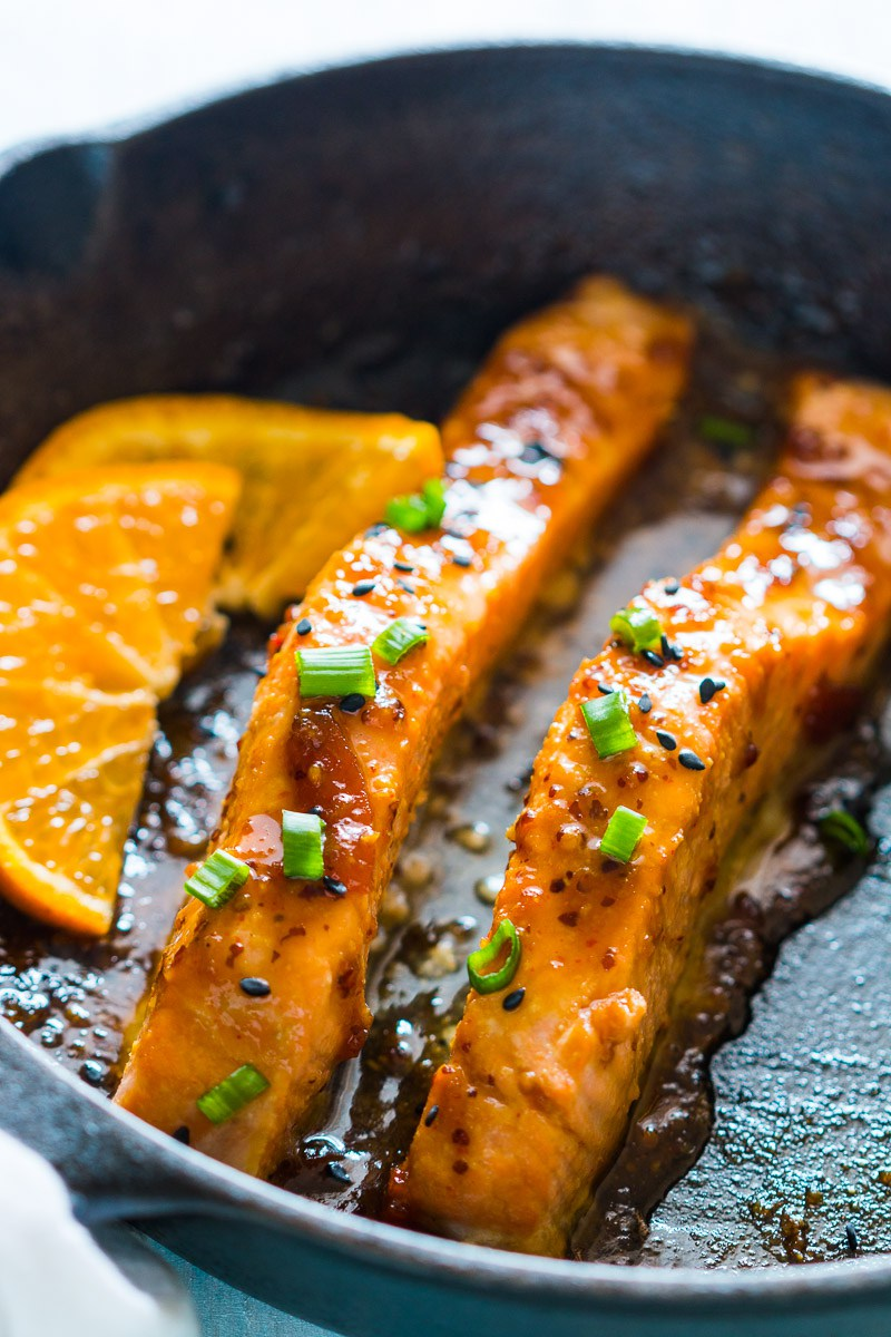 MIND Diet: Healthy Recipes to boost brain health, Pan seared Orange Mustard Salmon