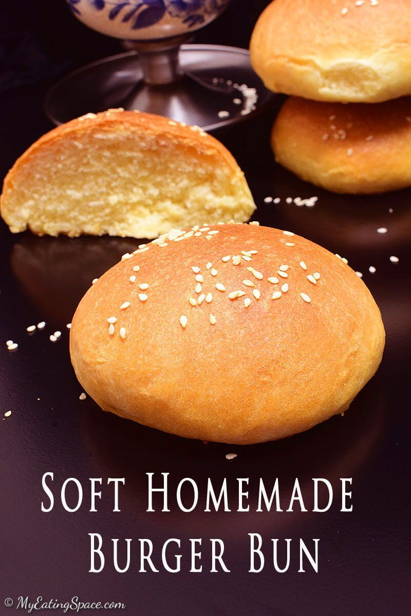 Burger Buns, whether you make hamburgers or serve it plain, these soft and fluffy buns are right enough for big appetites. Homemade makes it more delicious. More recipes at http://myeatingspace.com/