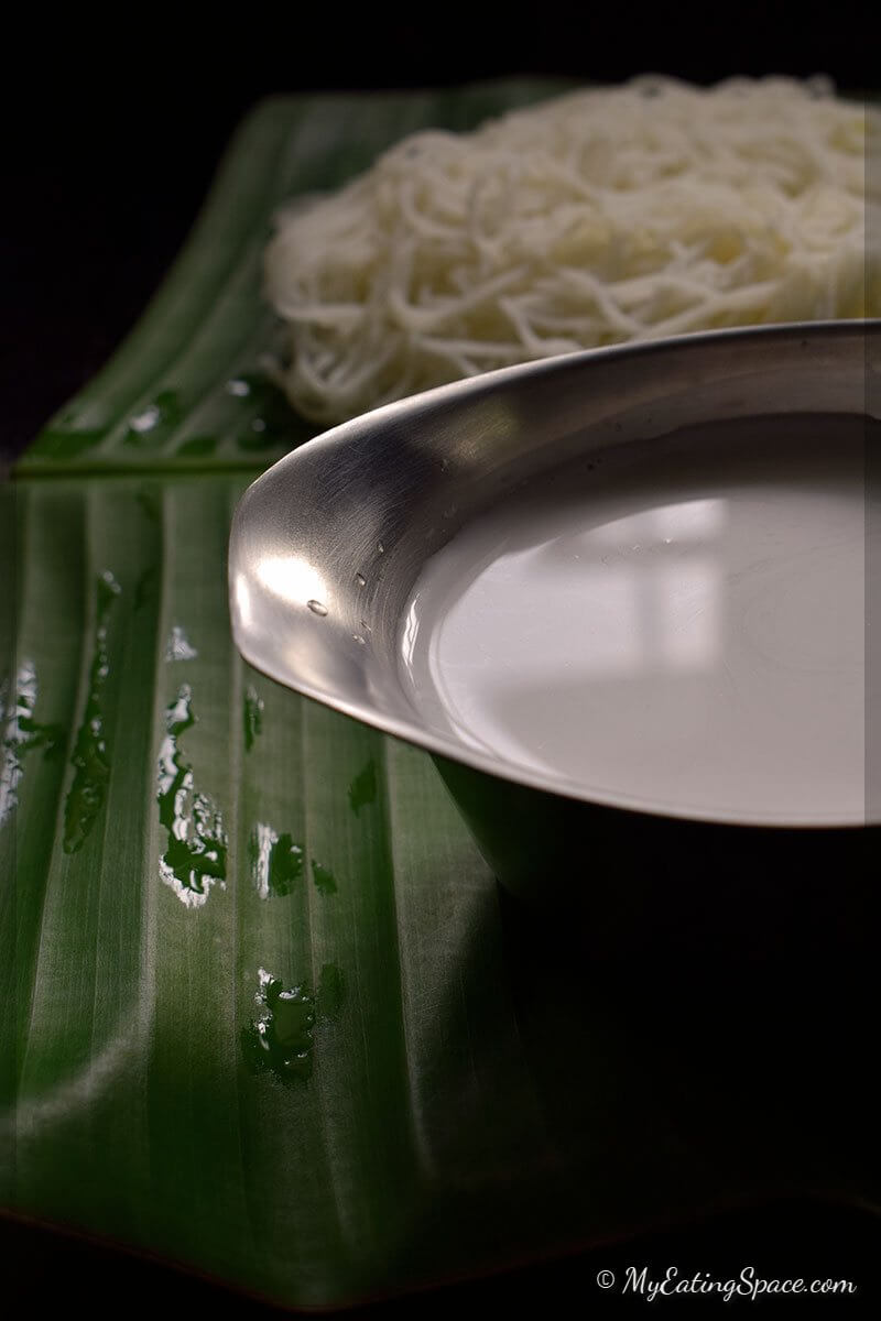 String Hoppers with Coconut Milk