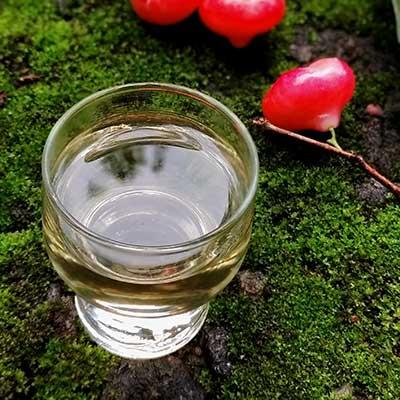 Rose water apple wine